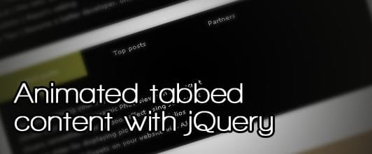 Animated tabbed content with jQuery