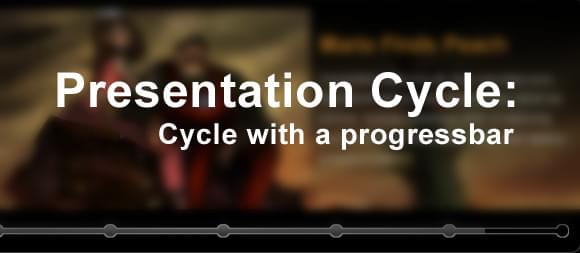 Presentation Cycle: Cycle with a progressbar